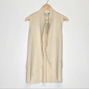 Cotton Leather Sleeveless Vest by Nicolas & Mark
